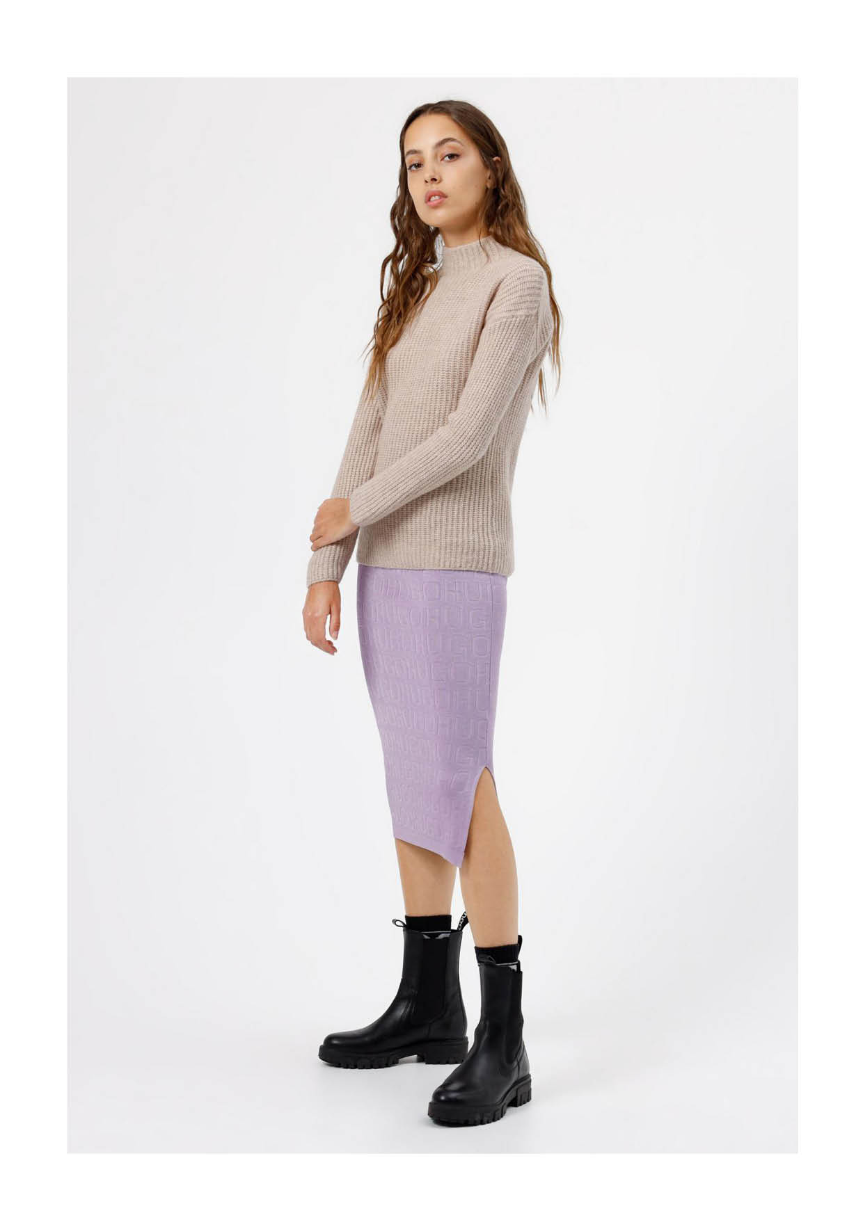 Relaxed-Fit Pullover aus Woll-Mix